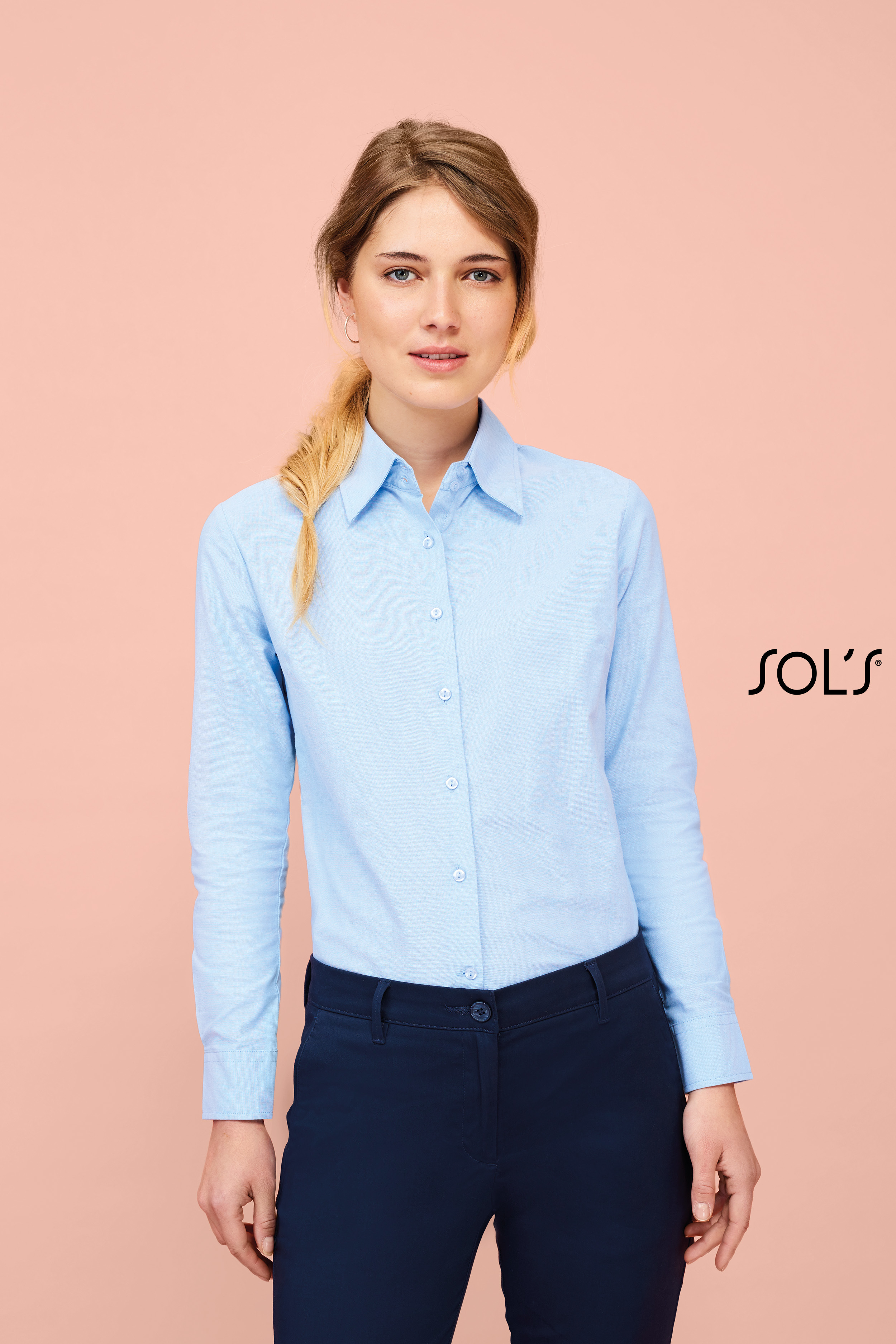 Chemise femme oxford manches longues Embassy