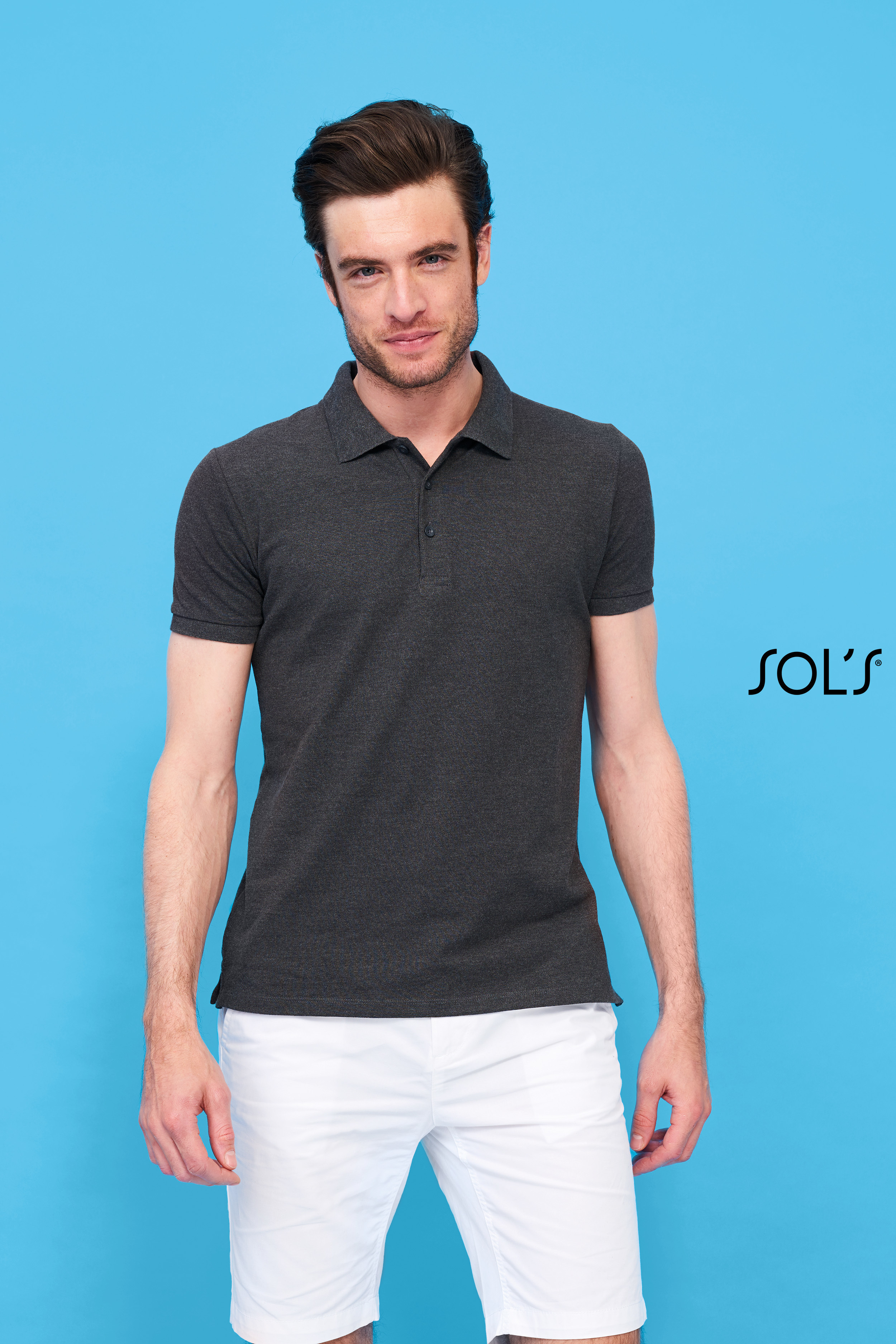 Polo coton élasthanne homme