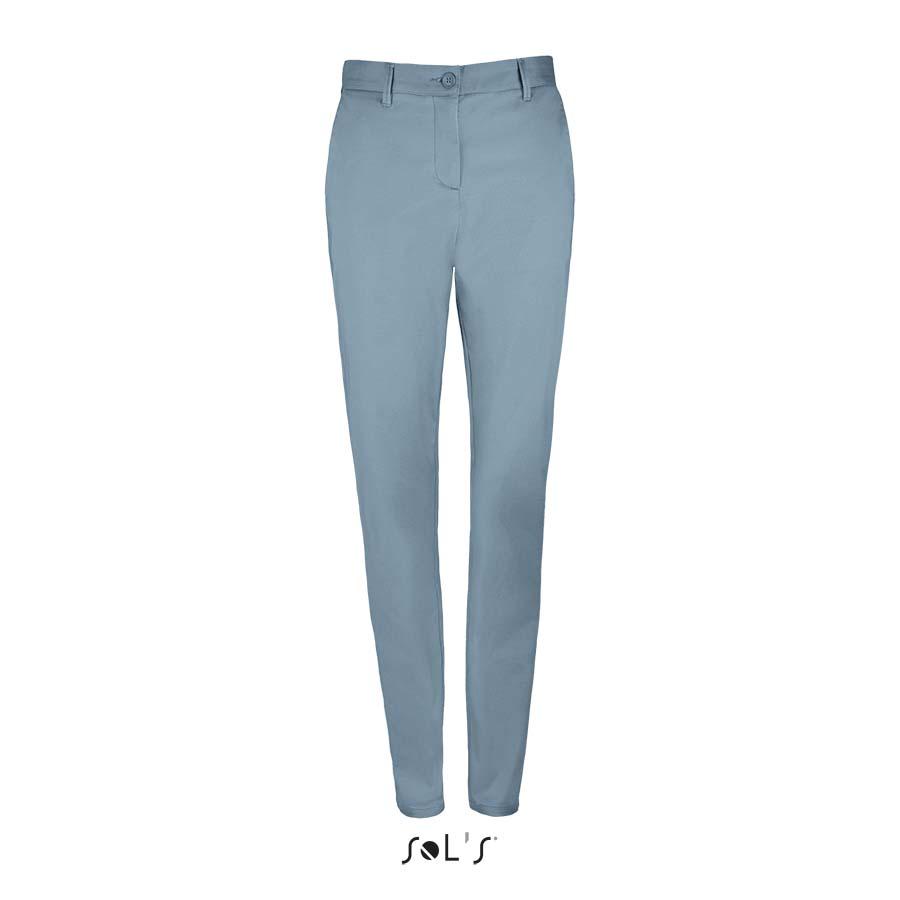 Pantalon stretch en satin femme - 1-1417-1