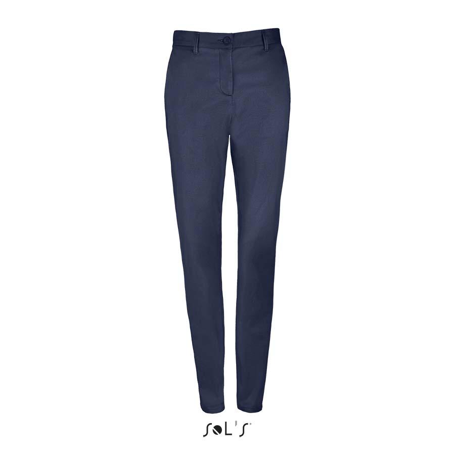 Pantalon stretch en satin femme - 1-1417-2