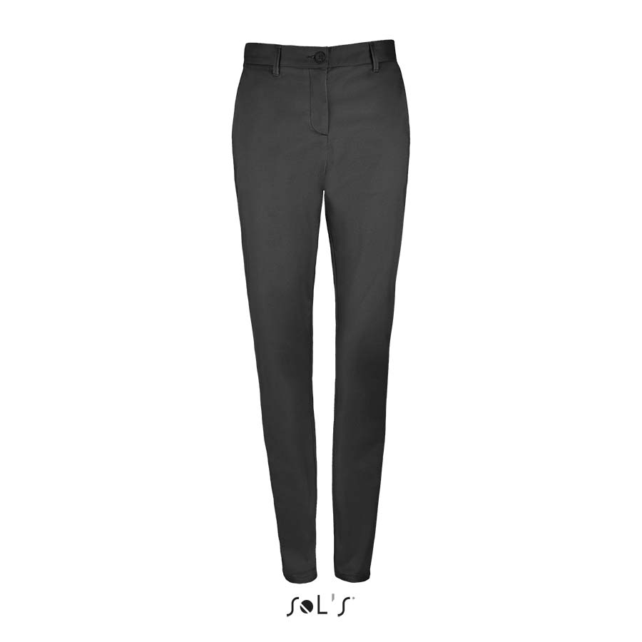 Pantalon stretch en satin femme - 1-1417-3