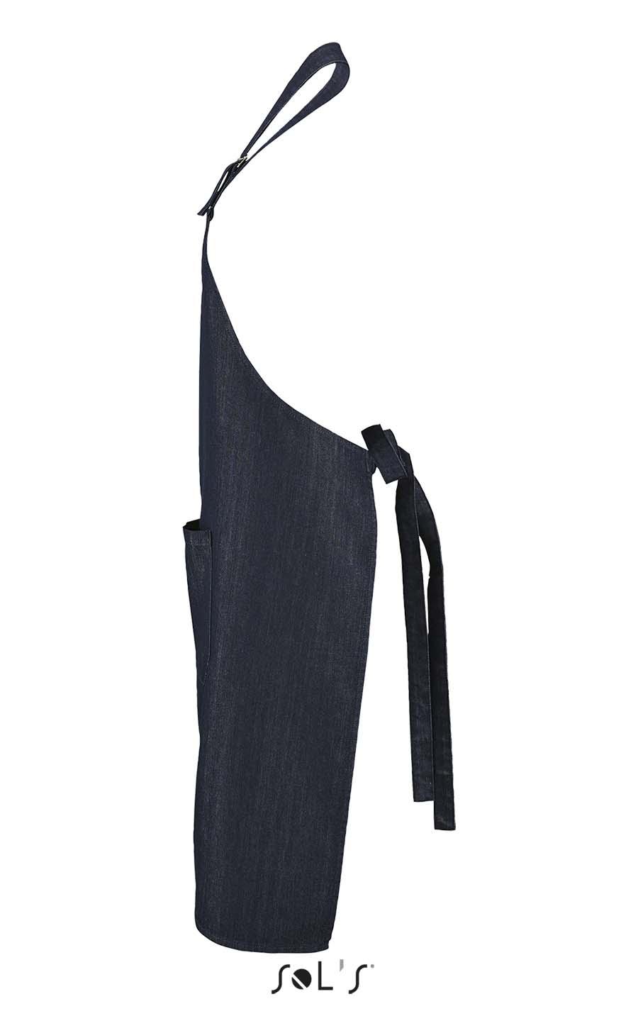 Tablier long en denim avec poche - 1-1431-1