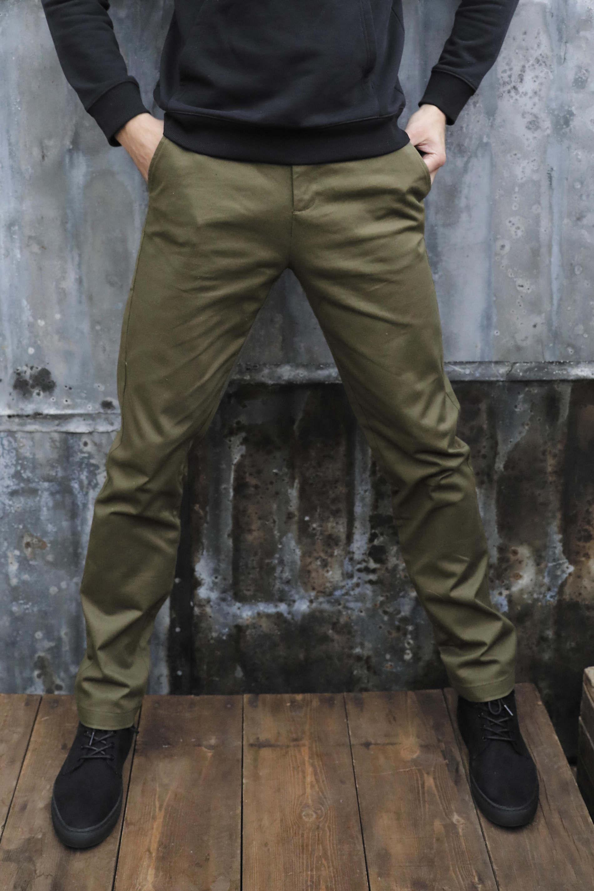 Pantalon chino taille élastiquée homme