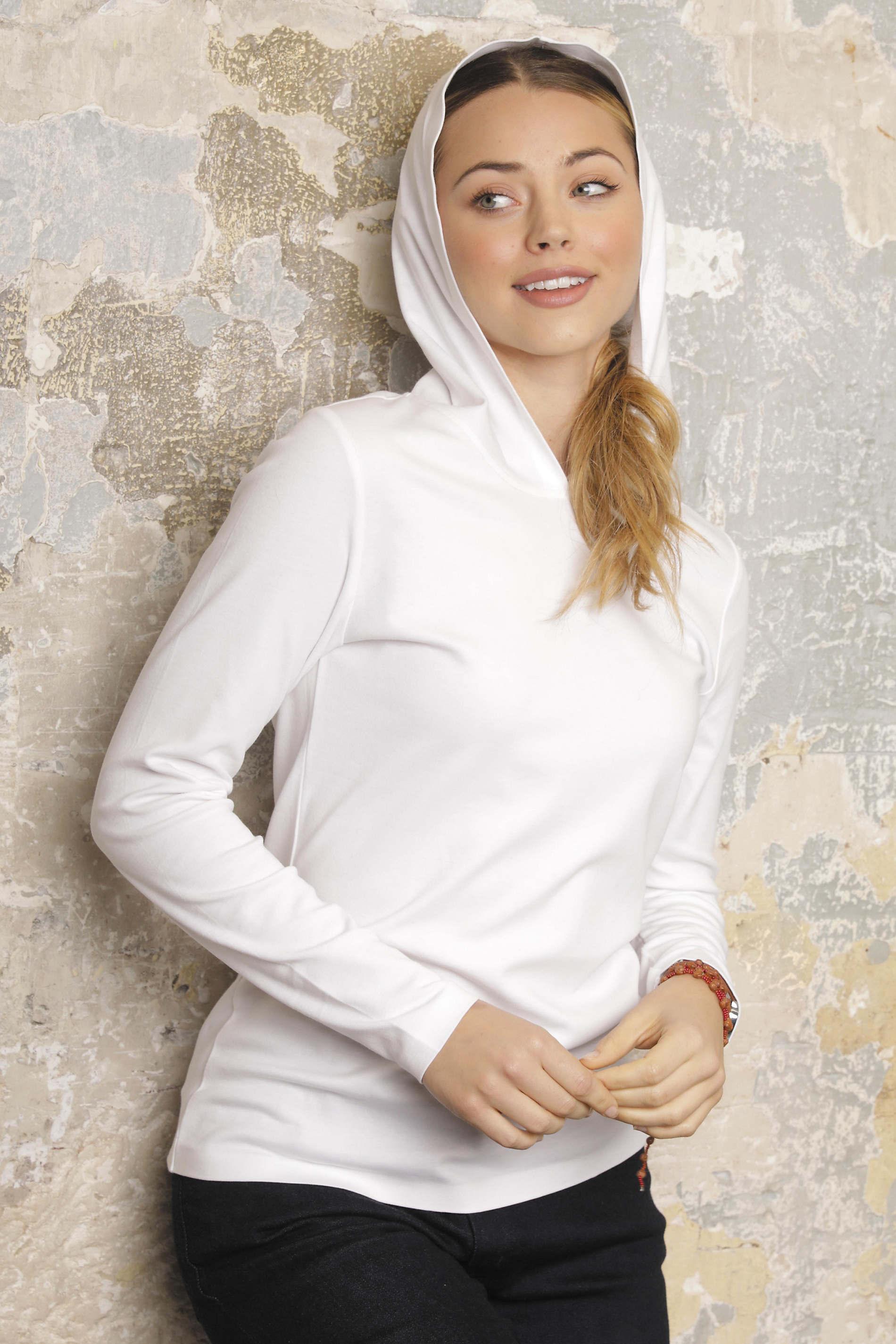 Tee-shirt avec capuche femme