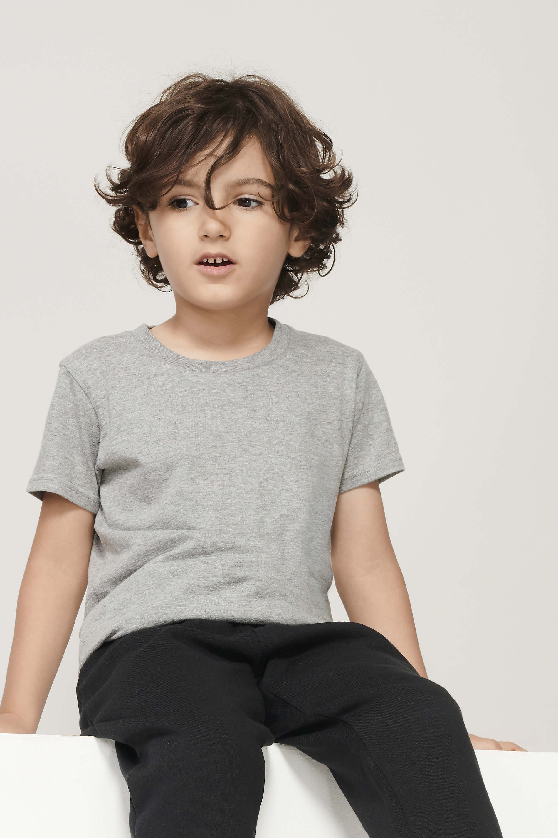 Tee-shirt enfant jersey col rond ajusté