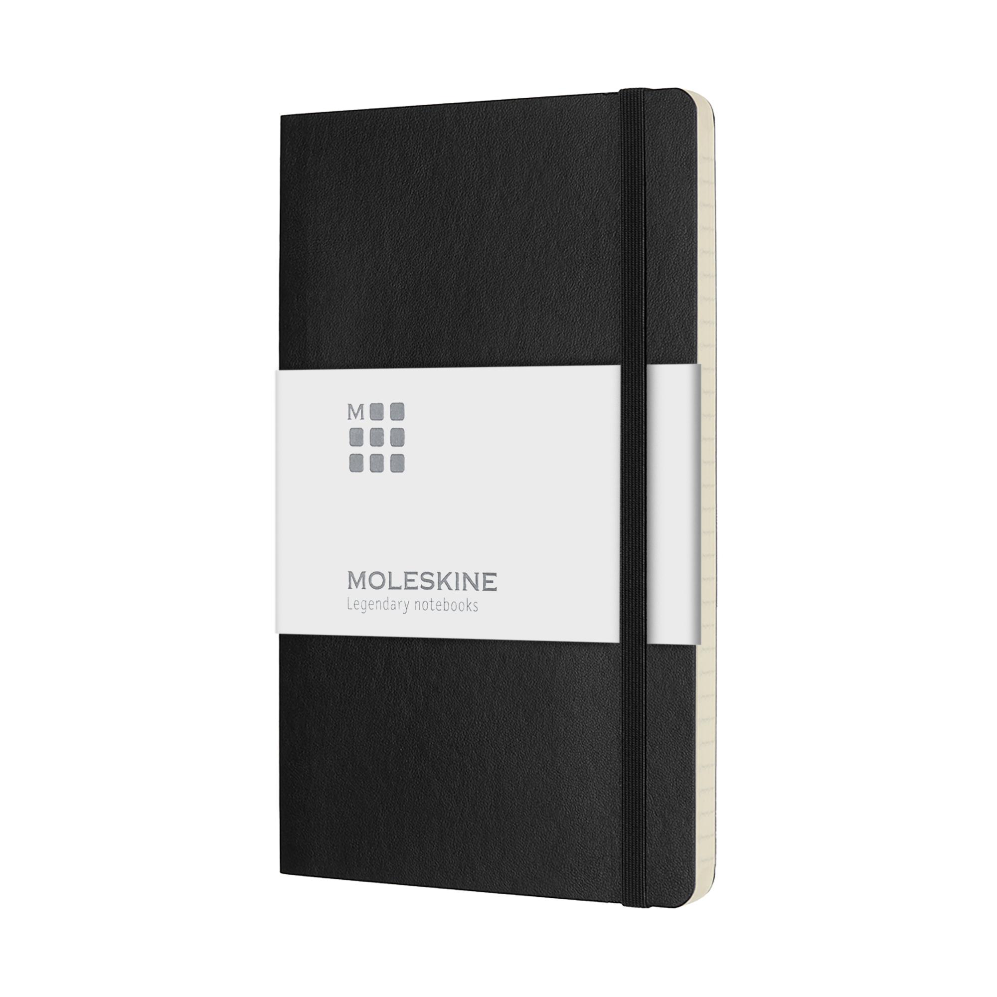 Carnet de poche avec couverture souple et papier à rayures MOLESKINE®