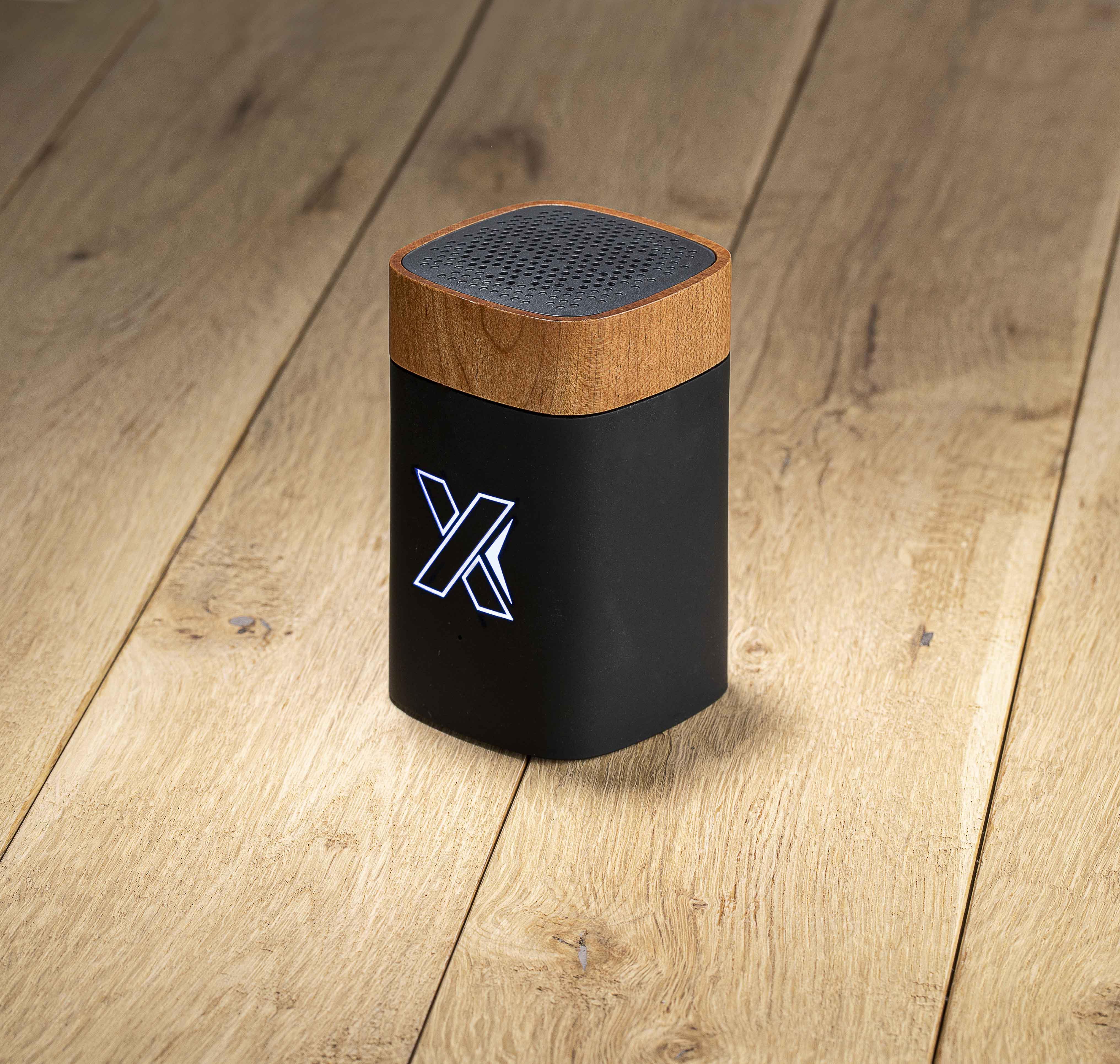Enceinte rubber et bois