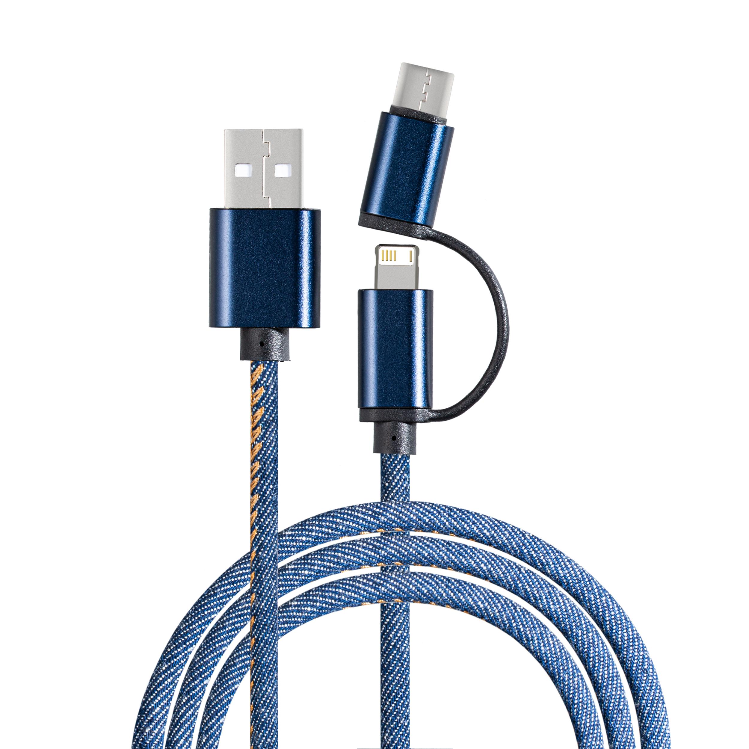 Cable de charge avec connexion 3-en-1