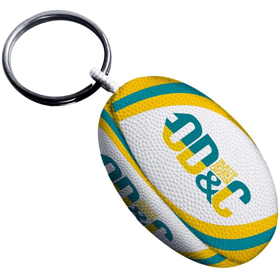 Porte-clés ballon de rugby - 147-1006-2