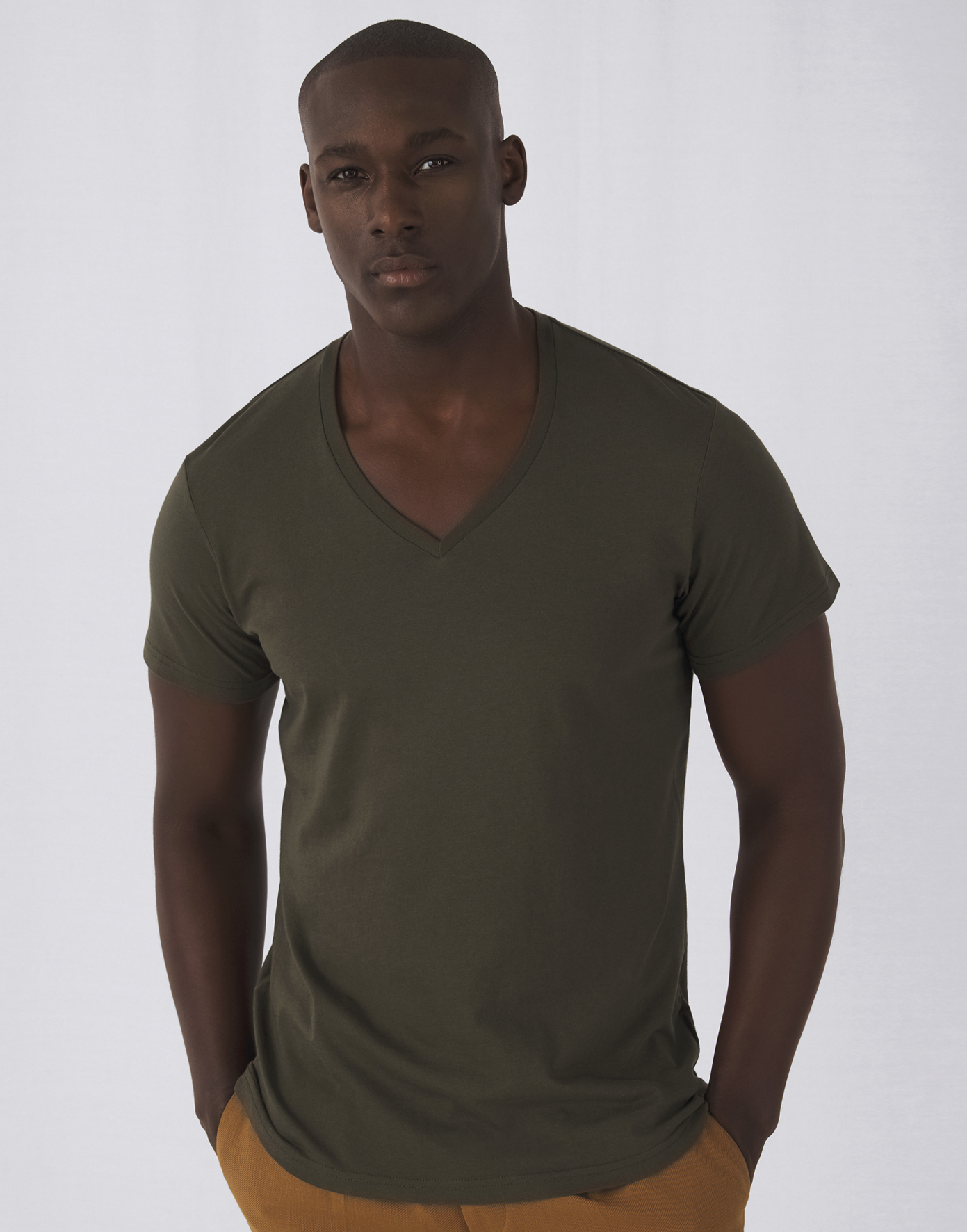 Tee-shirt homme col V