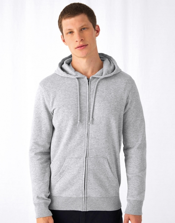 Sweat organique zip capuche