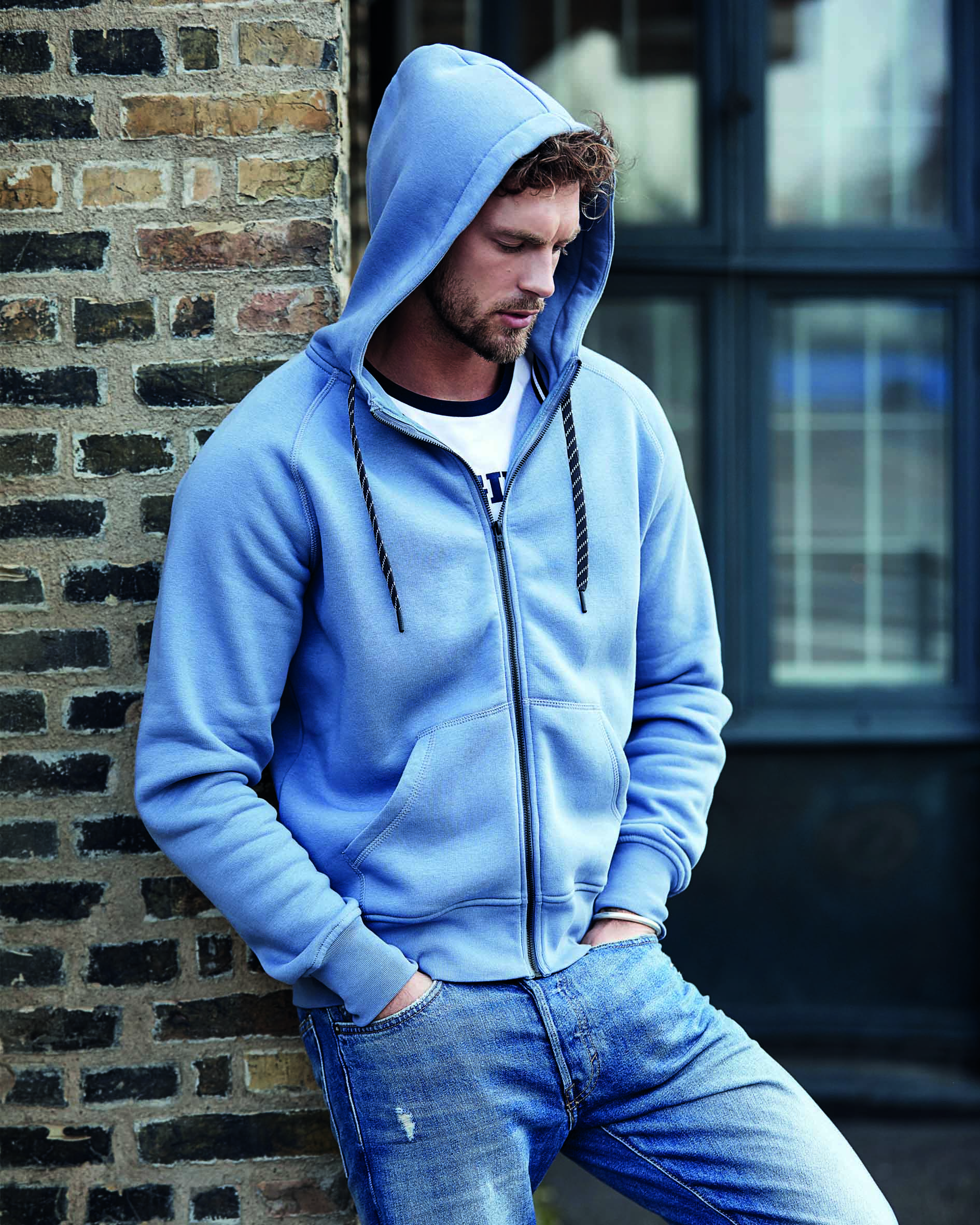 Sweat capuche zippé homme fashion