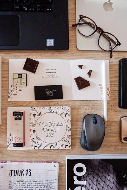 Carte 1 carré de chocolat