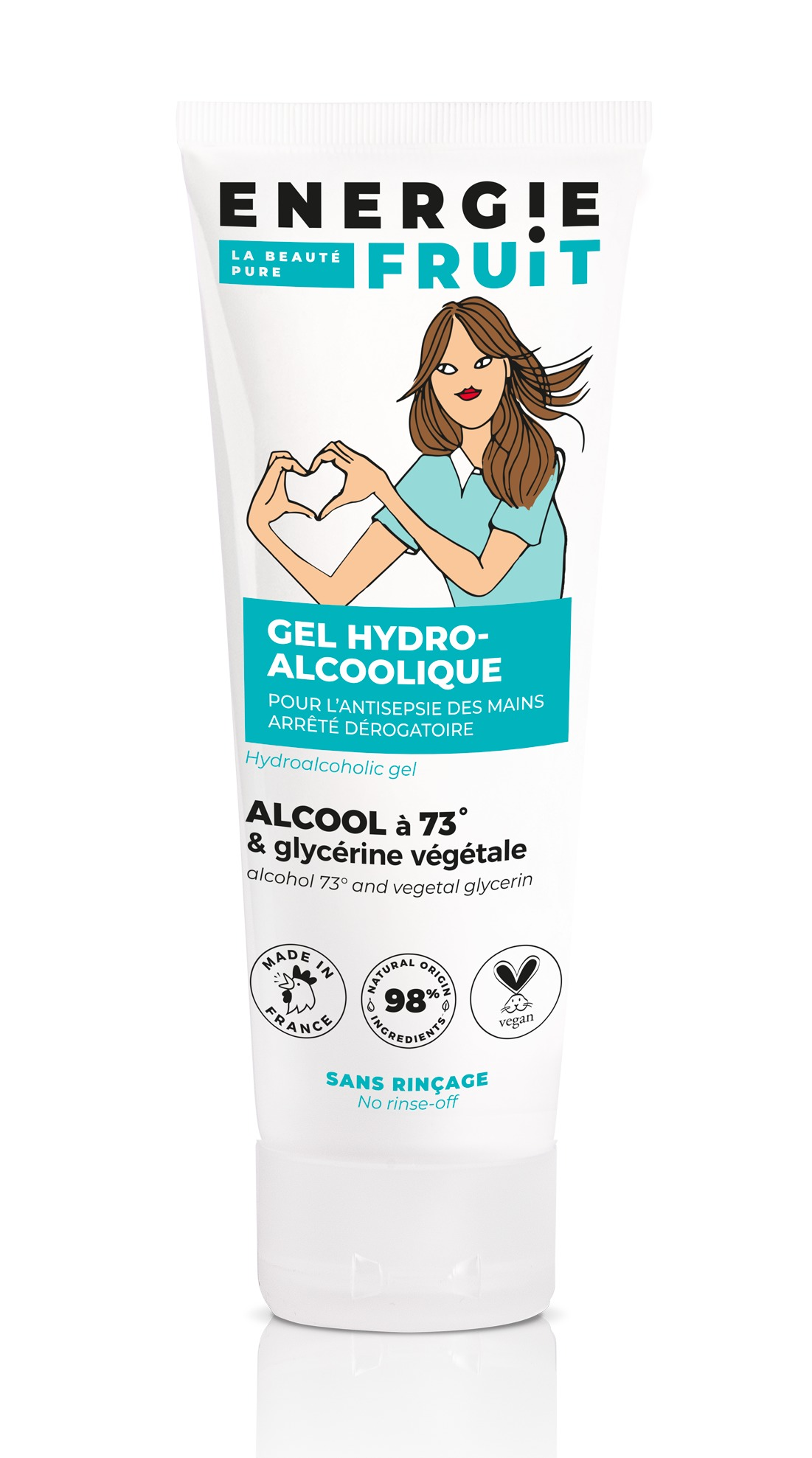 Flacon de gel hydroalcoolique 75ml