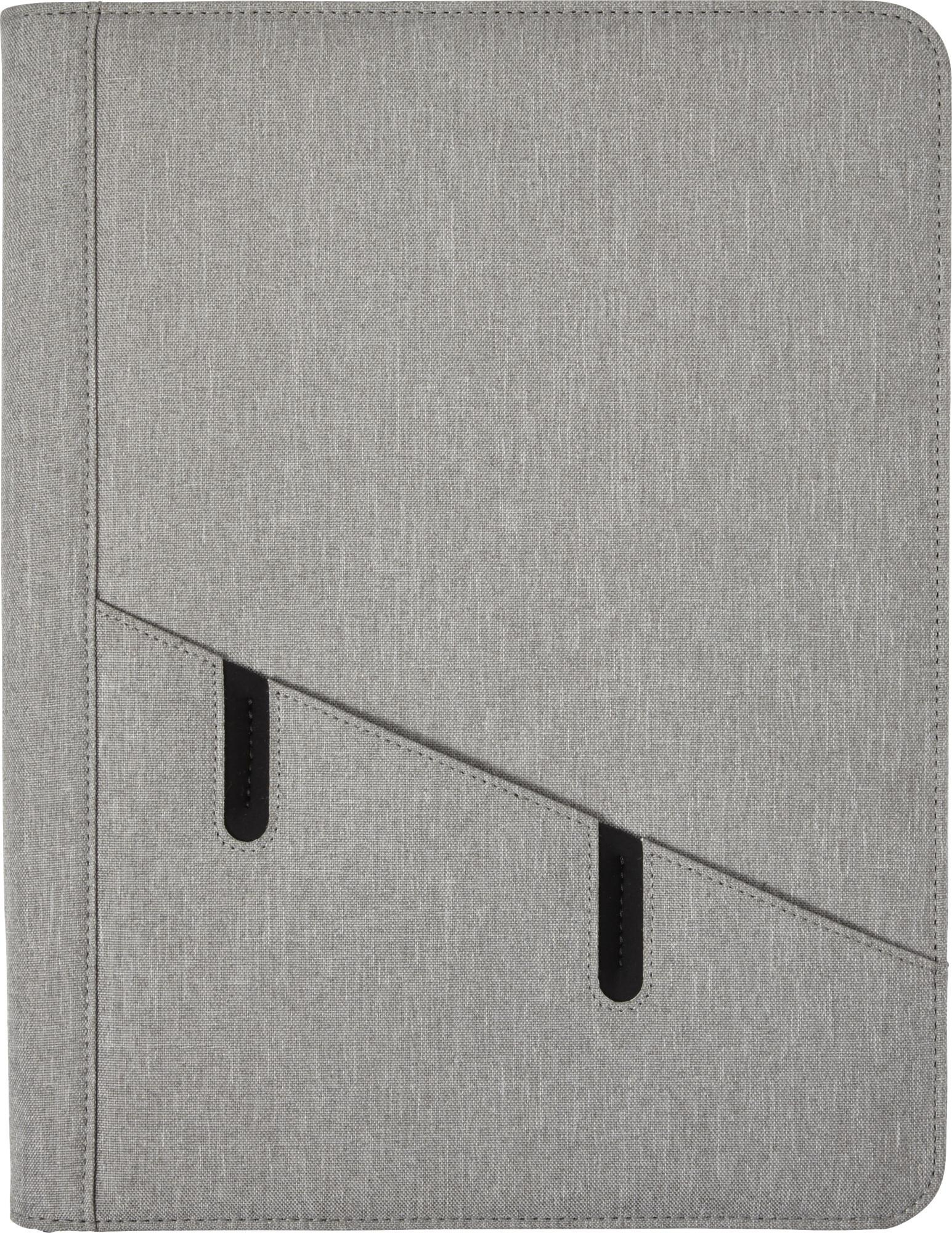 Conférencier A4 zippé en polyester - 19-1243-12