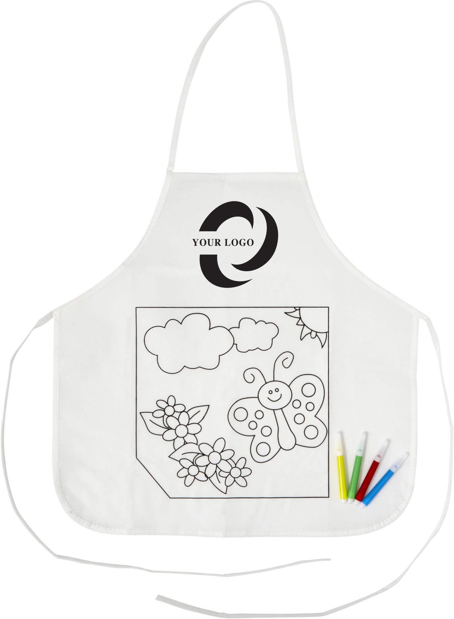 Tablier en polyester à colorier - 19-1255-7