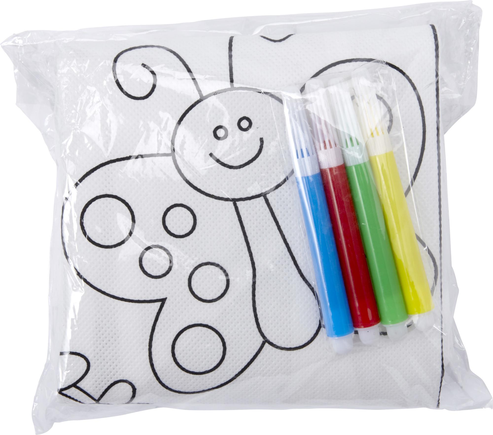 Tablier en polyester à colorier - 19-1255-8