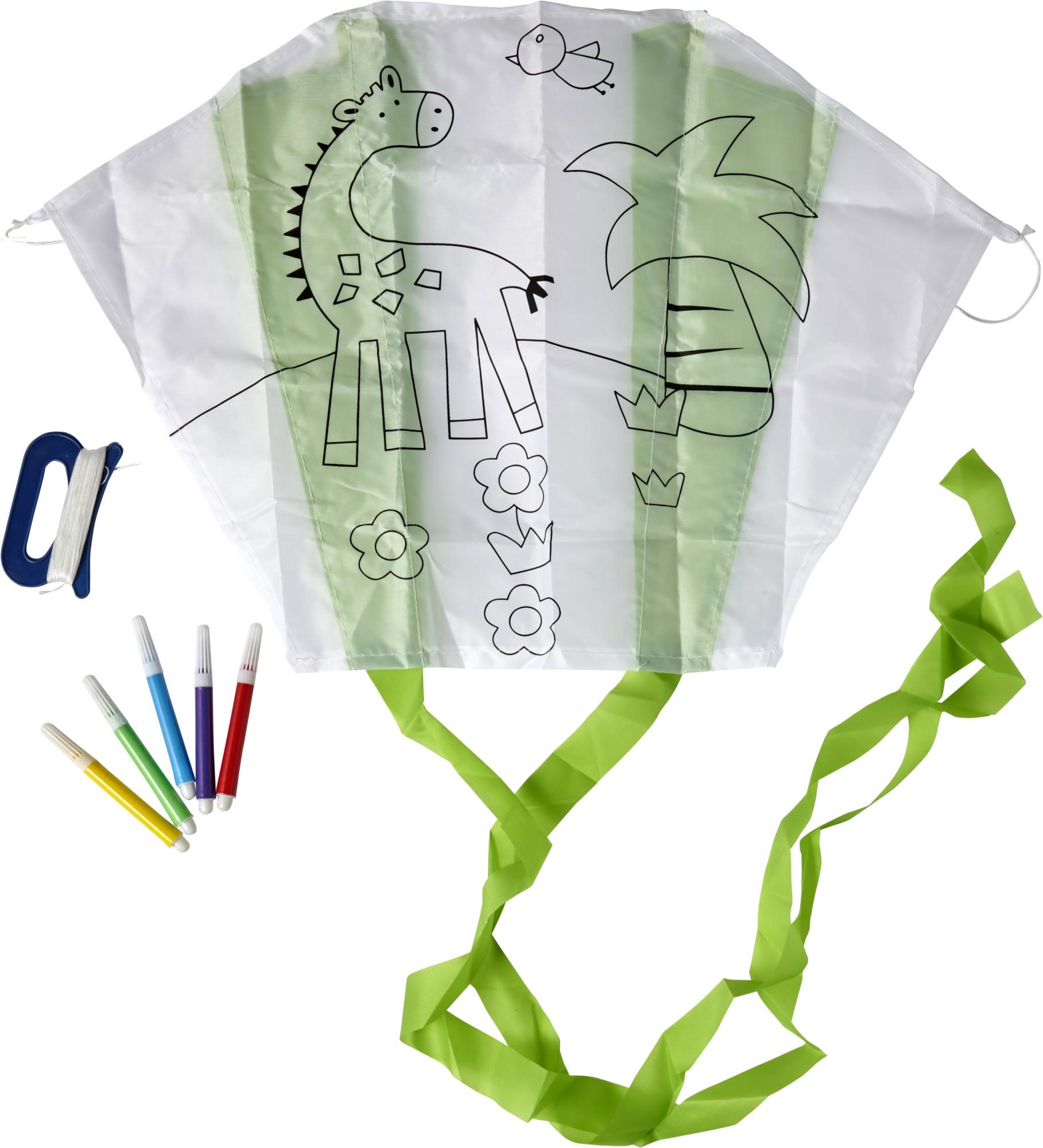 Cerf-volant en polyester à colorier - 19-1256-10