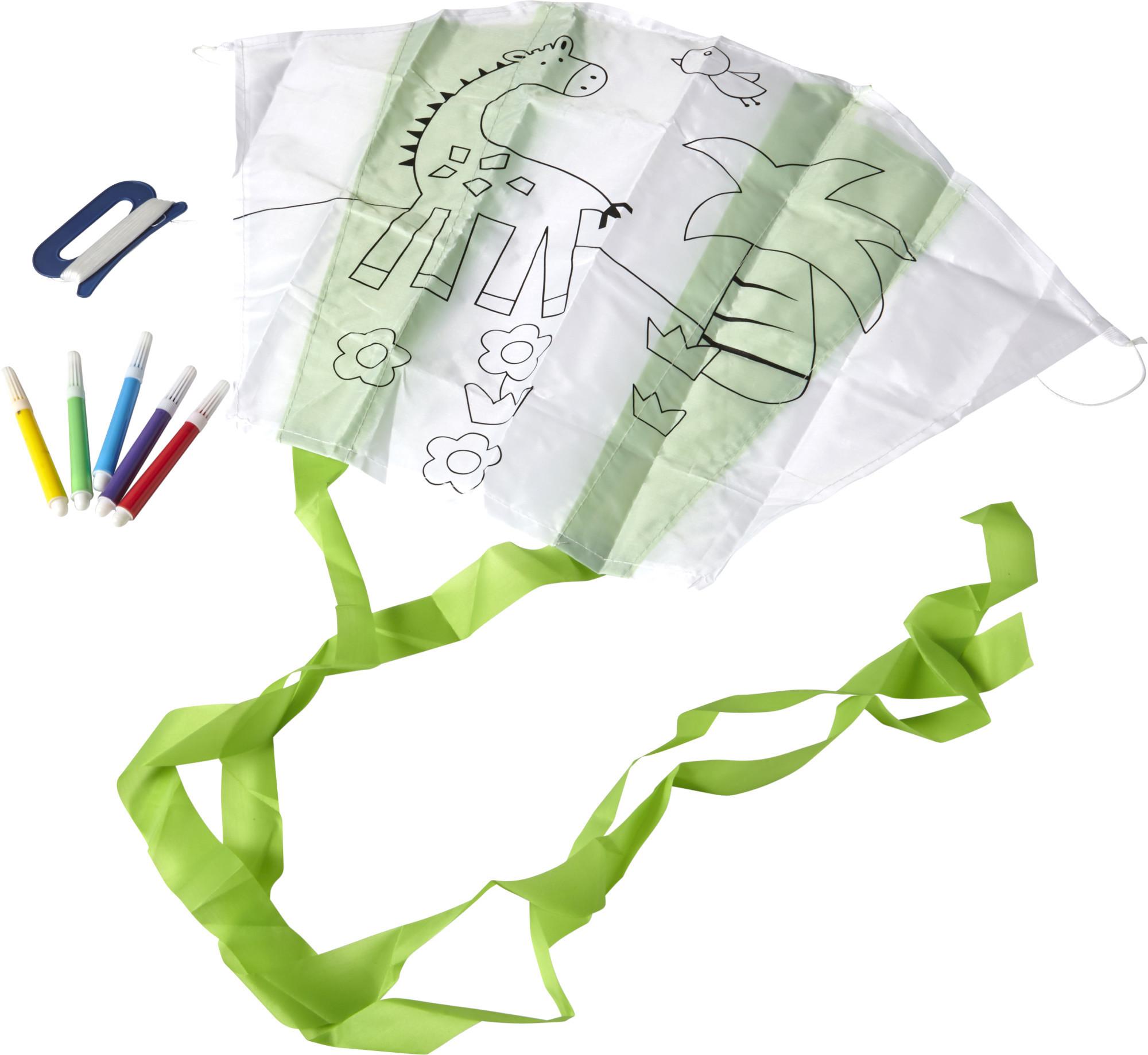 Cerf-volant en polyester à colorier