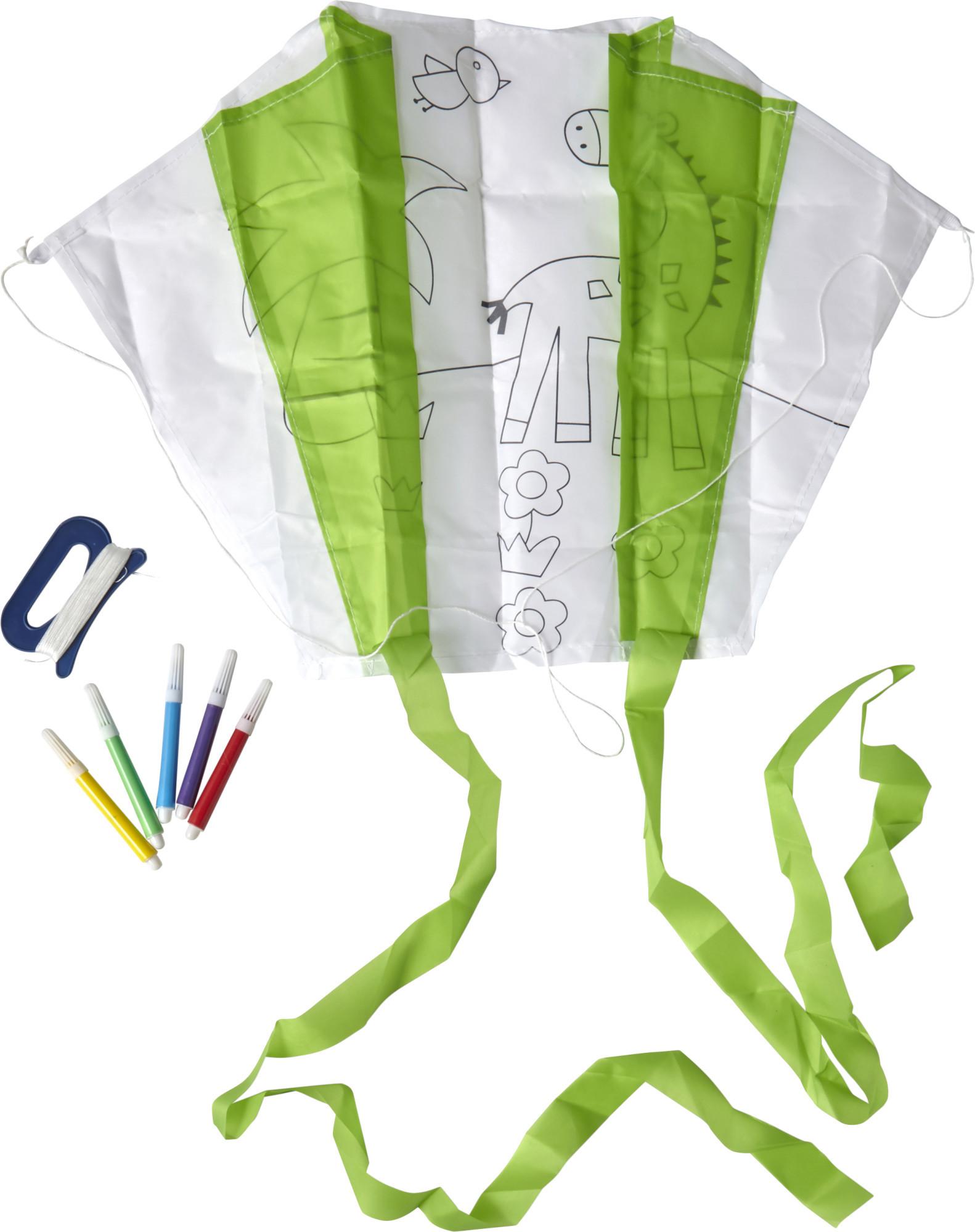 Cerf-volant en polyester à colorier - 19-1256-9