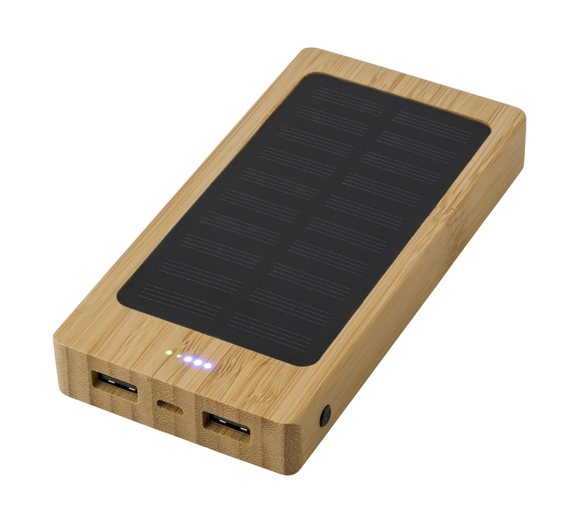 Powerbank solaire en bambou