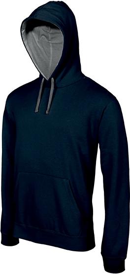 Sweat-shirt homme capuche contrastée - 2-1026-10