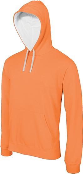 Sweat-shirt homme capuche contrastée - 2-1026-11
