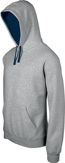 Sweat-shirt homme capuche contrastée - 2-1026-12