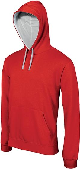 Sweat-shirt homme capuche contrastée - 2-1026-14