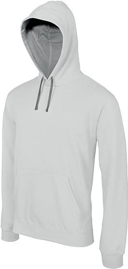 Sweat-shirt homme capuche contrastée - 2-1026-17