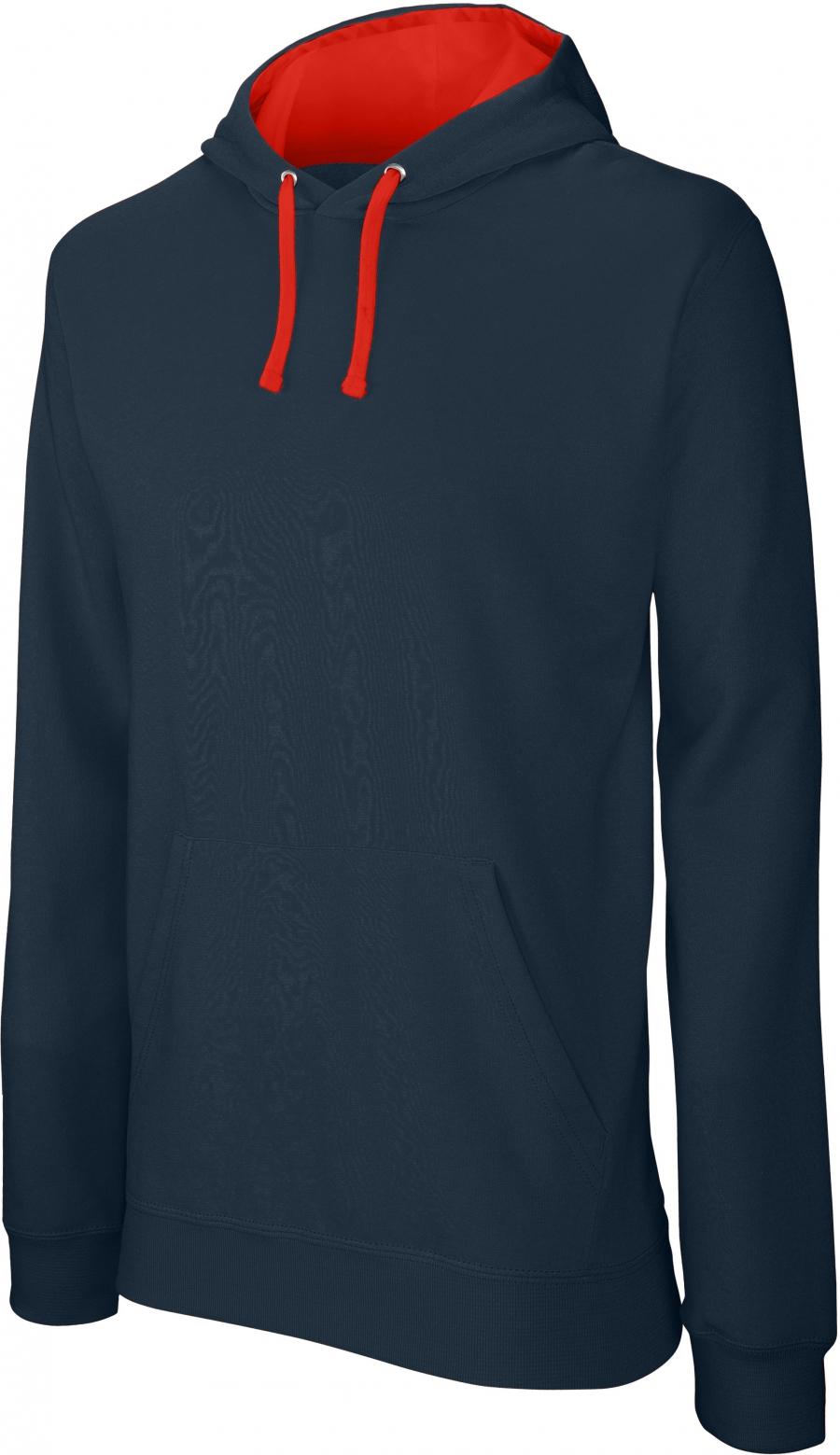 Sweat-shirt homme capuche contrastée - 2-1026-18