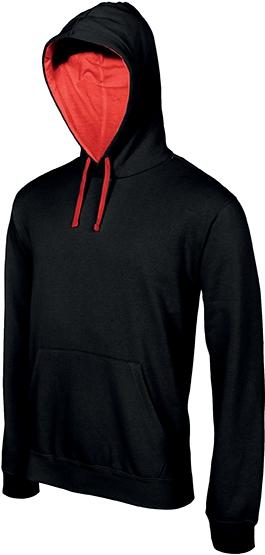 Sweat-shirt homme capuche contrastée - 2-1026-3