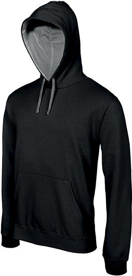 Sweat-shirt homme capuche contrastée - 2-1026-4
