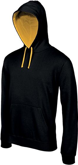 Sweat-shirt homme capuche contrastée - 2-1026-5