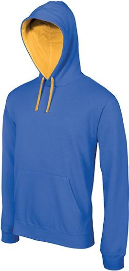 Sweat-shirt homme capuche contrastée - 2-1026-9