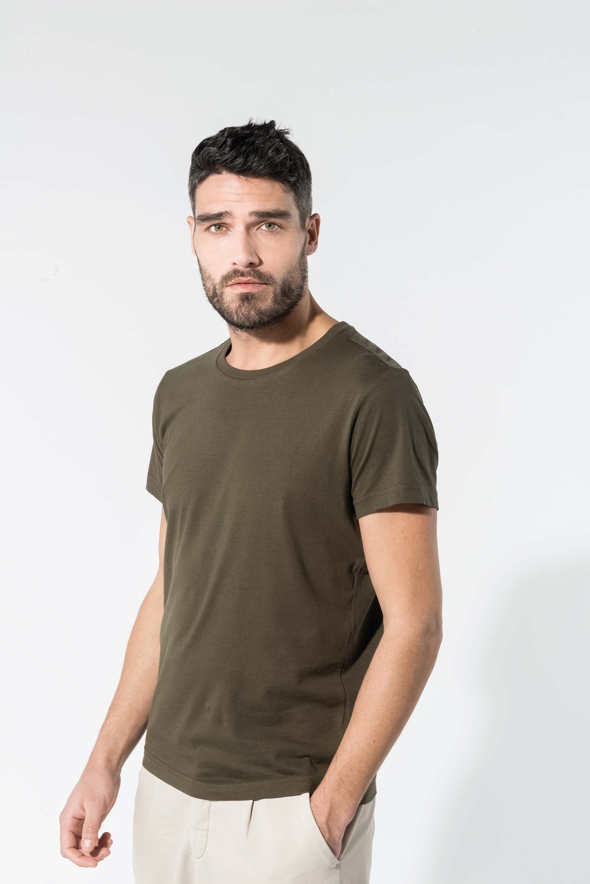 Tee-shirt coton bio col rond homme