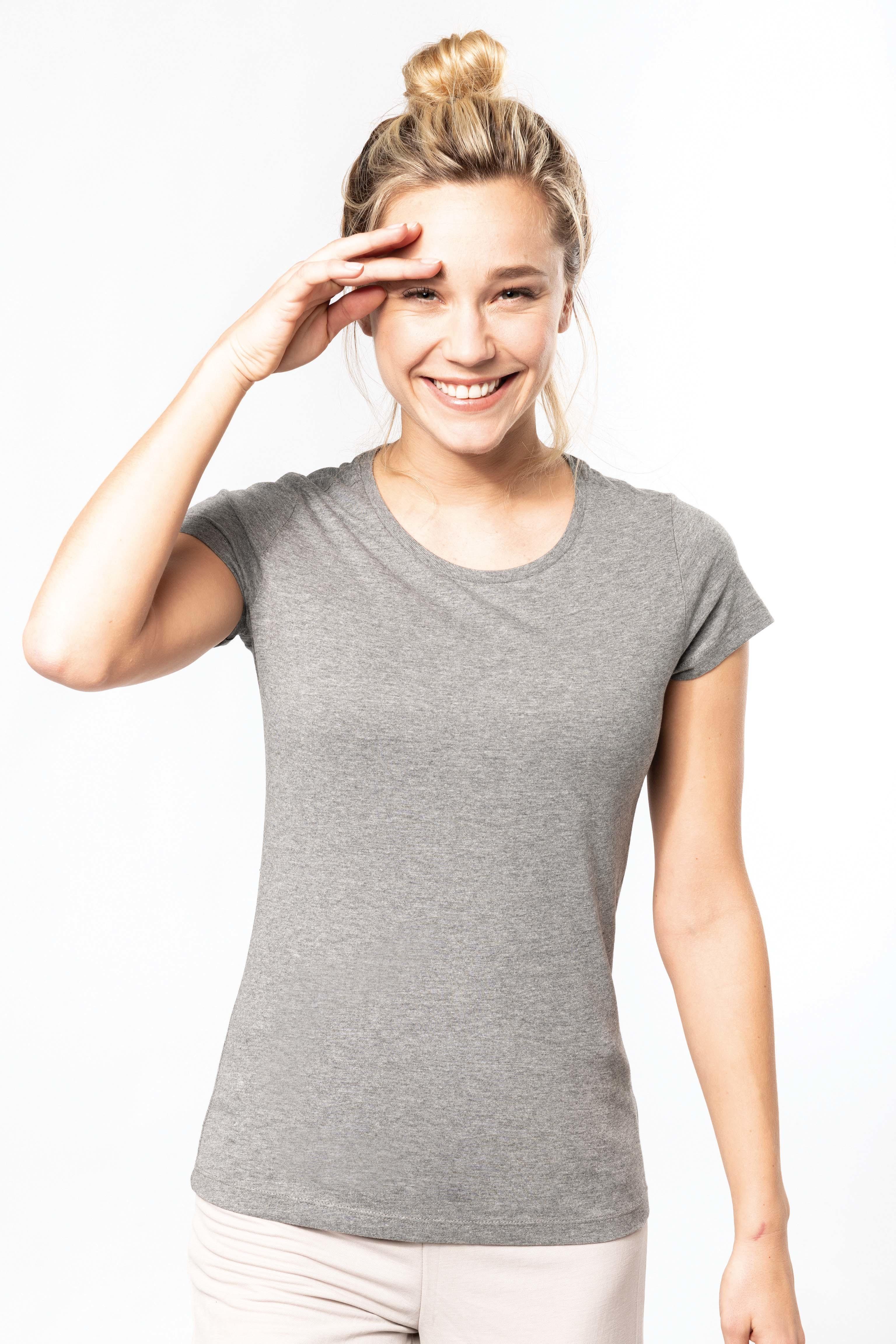 Tee-shirt coton bio col rond femme