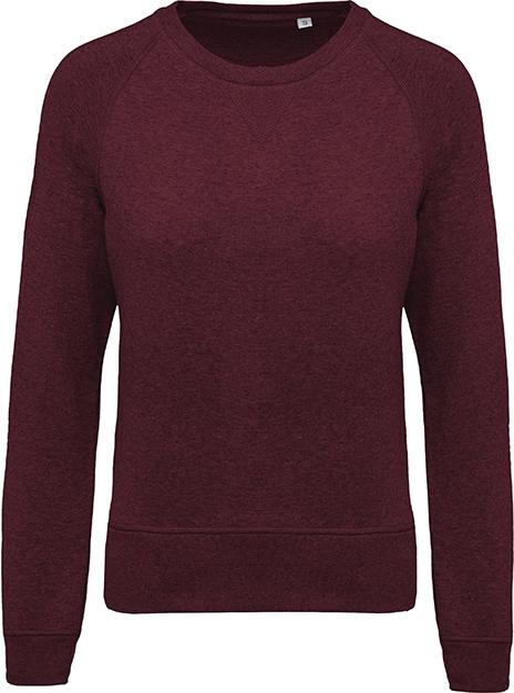 Sweat-shirt bio col rond manches raglan femme - 2-1414-10