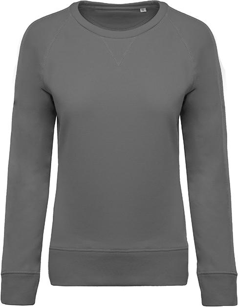 Sweat-shirt bio col rond manches raglan femme - 2-1414-2
