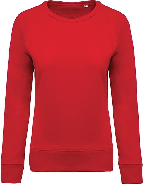 Sweat-shirt bio col rond manches raglan femme - 2-1414-4