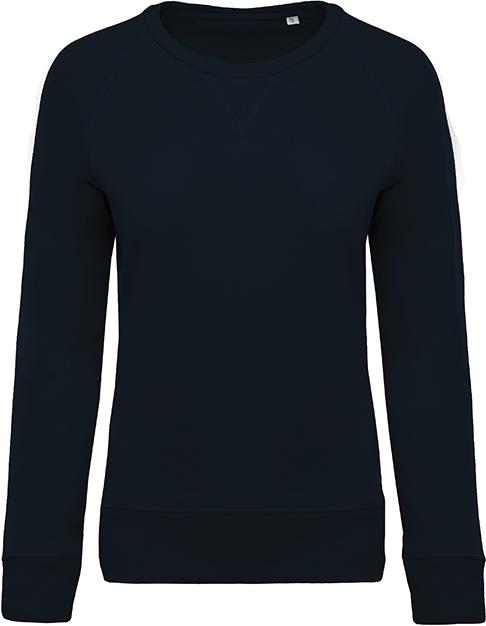 Sweat-shirt bio col rond manches raglan femme - 2-1414-5