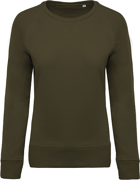 Sweat-shirt bio col rond manches raglan femme - 2-1414-6