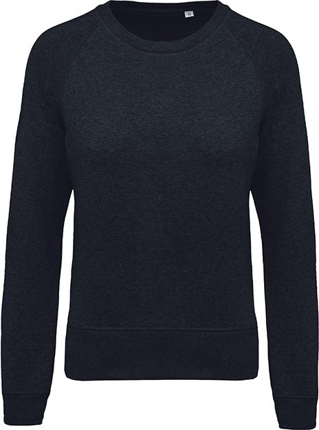 Sweat-shirt bio col rond manches raglan femme - 2-1414-8