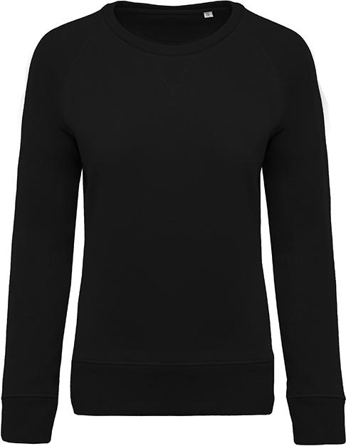 Sweat-shirt bio col rond manches raglan femme - 2-1414-9