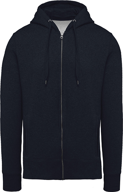 Sweat-shirt bio zippé capuche homme - 2-1417-10