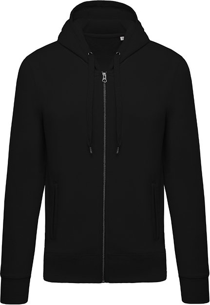 Sweat-shirt bio zippé capuche homme - 2-1417-11