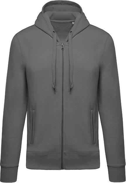 Sweat-shirt bio zippé capuche homme - 2-1417-3