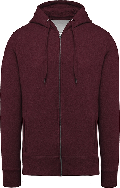 Sweat-shirt bio zippé capuche homme - 2-1417-4