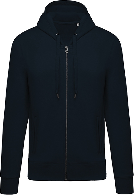Sweat-shirt bio zippé capuche homme - 2-1417-7