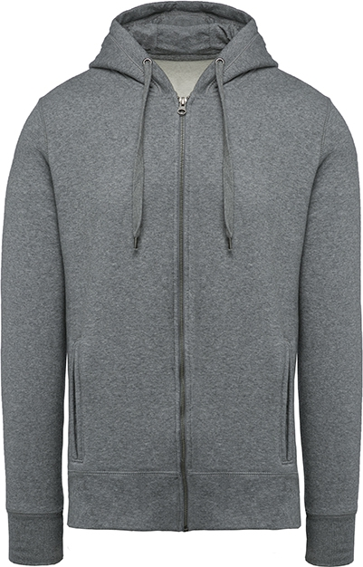 Sweat-shirt bio zippé capuche homme - 2-1417-8